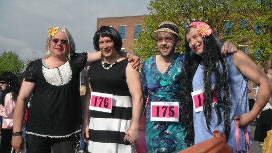 Posh Spice gains a few pounds and dresses as a humbug for Ashgate Hospice.